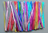 1500pcs 4″ (15 Colors) Metallic Twist Tie for Cake Pop Lollipop Candy Cello Bags