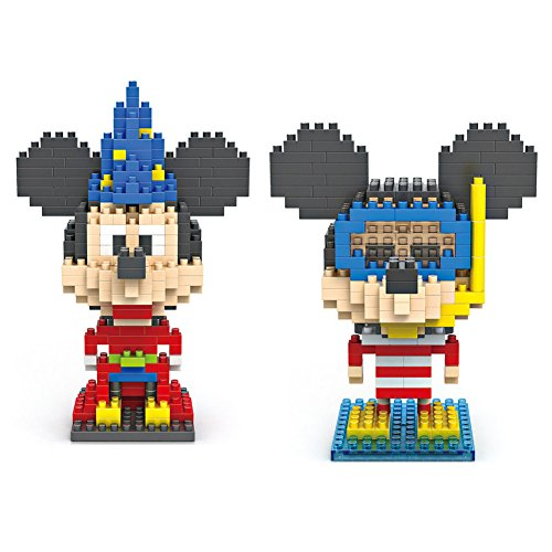 Magician Mickey Mickey Diving - LOZ Nanoblock Mickey Mouse Collection Pack of 2