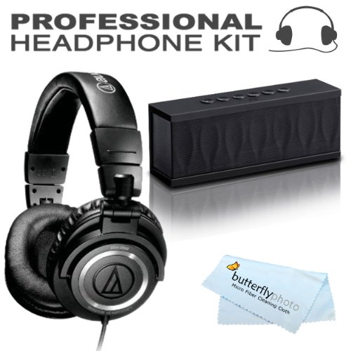 Audio-Technica Ath-M50S Professional Studio Monitor Headphones - With Straight Cable + Bonus Photive Cyren Portable Wireless Bluetooth Speaker With Built In Speakerphone