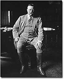Theodore Teddy Roosevelt Library Portrait 8x10 Silver Halide Photo Print