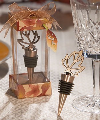 Autumn Themed Wine Bottle Stoppers (Set of 36) - Fall Wedding Favors
