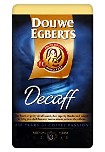 Douwe Egberts Decaf Ground Coffee, Medium Roast, 250-Gram Package (Pack of 3)
