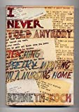 I Never Told Anybody (0394406060) by Kenneth Koch