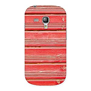 Special Red Woodlock Print Back Case Cover for Galaxy S3 Mini