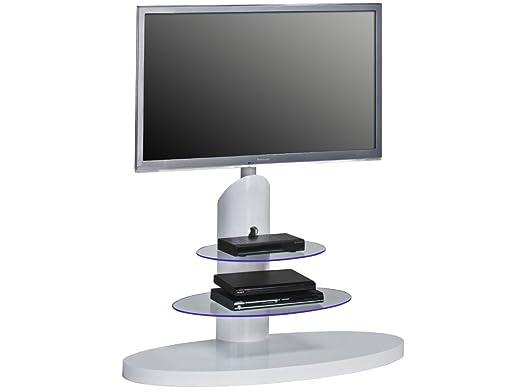 "TV Rack Lowboard Board Unterschrank Hifi Ständer ""Ovalo II"" inkl. Beleuchtung"