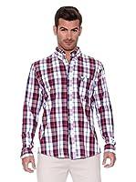 New Caro Camisa Hombre Nopal (Blanco / Rojo)