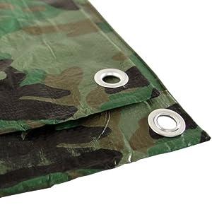 Camouflage 12x24 Green Hunting Army Camo Tarp Cover Patio Canopy Farm Shade
