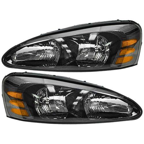 Pontiac Grand Prix New Headlights Headlamps Set (04 Grand Prix Headlight Assembly compare prices)