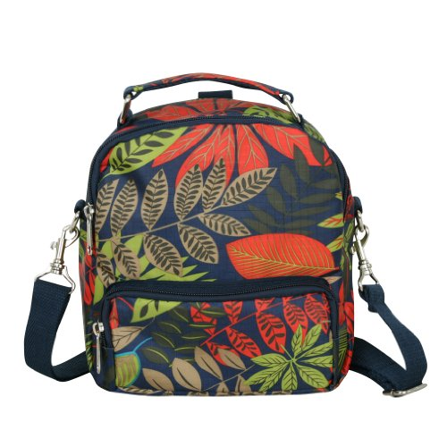 ililily discount duty free ililily Pattern Light weight Medium Size Multi Cross body Bag Mini Backpack (018-1)