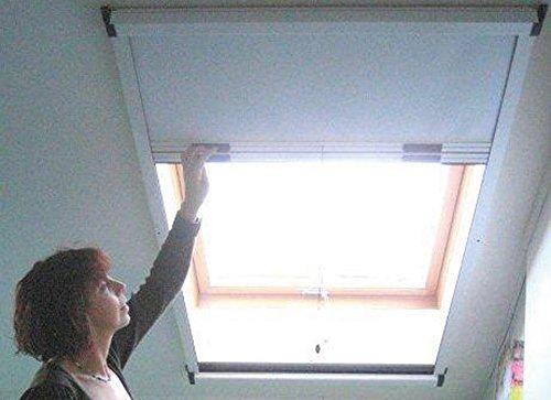 Green Tower Insenktenkombi-Rollo für Dachfenster Weis 120X170cm
