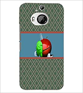 PrintDhaba Funny Image D-3782 Back Case Cover for HTC ONE M9 PLUS (Multi-Coloured)