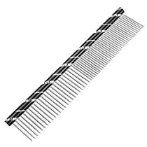 Etop Colors Stainless Steel Dog Pet Combs With Rounded Spine Pet Grooming Tools-Deshedding Brush (Black)