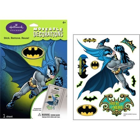 Batman Small Removable Wall Decorations Party Accessory