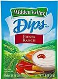 Hidden Valley Dips Mix, Fiesta Ranch 1.1 Oz Packets (Pack of 6)