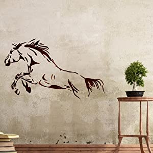 BOUTIQUE STENCILS Wall Stencils Horse stencil Large Template - for