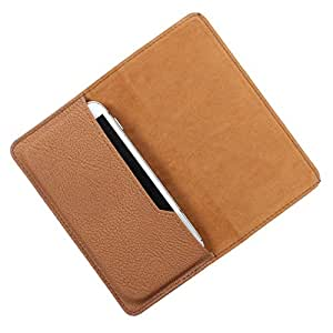DooDa PU Leather Case Cover For Lenovo A536 (Brown)