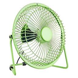 Ambielly USB Mini Desk Cooler Fan Velocity Personal Fan (Green, 7.87\'\')