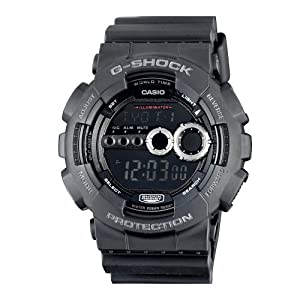 Casio Men's GD100-1BCR G-Shock X-Large Black Multi-Functional Digital Sport Watch by Casio