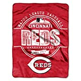 MLB Cincinnati Reds Structure Micro-Raschel Throw, Red, 46 x 60-Inch