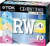 TDK CD-RWデータ用700MB 4倍速カラーミックス 5mm厚ケース入り10枚パック [CD-RW80X10CCS]