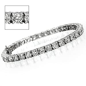 15 ct Round Diamond Tennis Bracelet - VS1/2