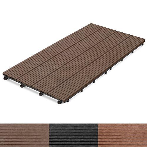 casa pura wpc terrassenfliesen prestige klick fliese in holz optik einzeln oder im set. Black Bedroom Furniture Sets. Home Design Ideas