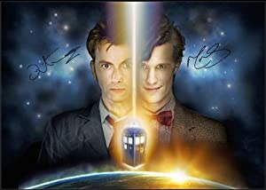 DR WHO DAVID TENNANT AND MATT SMITH SIGNED A4 PHOTOGRAPH