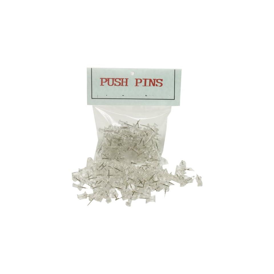 Clear Push Pins / Thumbtacks   100 pushpins per box