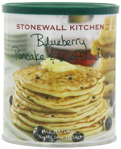 Stonewall Kitchen Blueberry Pancake & Waffle Mix, 16 Ounce Can (Pack of 3)