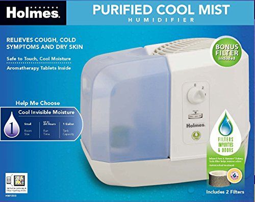 Holmes Group Purified Cool Mist Humidifier with Shatterproof Tank, HM1300-NU - 1