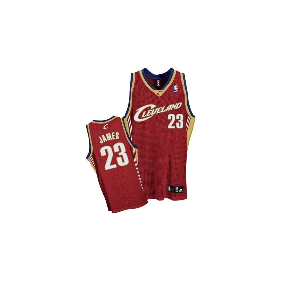 LeBron James adidas NBA Maroon Authentic Cleveland Cavaliers Jersey ... eb5c05e0a