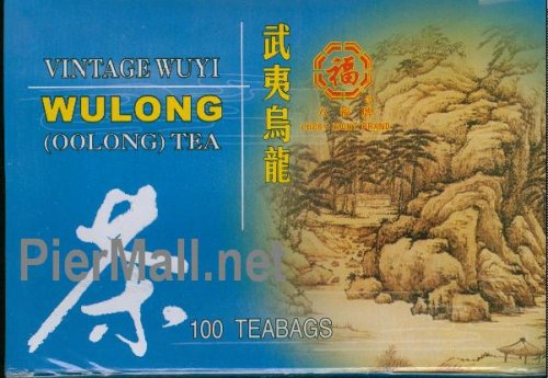 Vintage Wuyi Wulong (Wu Long) Oolong Tea For Weight Loss - 100 Individually Wrapped Tea Bags - 7.0 Oz