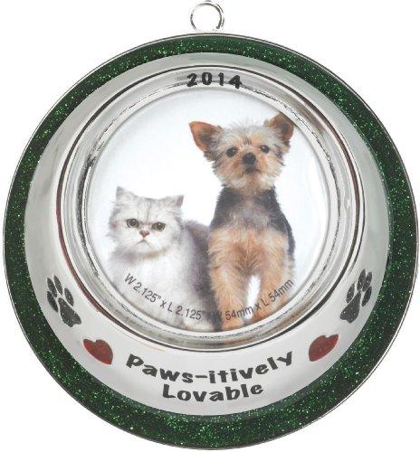 Pet Bowl Frame 2014 Carlton Heirloom Ornament