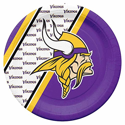 NFL Minnesota Vikings Disposable Paper Plate (20-Pack)
