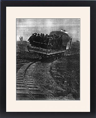 Framed Print Of Train That Runs On A Single Curve, The Gyroscopic Car