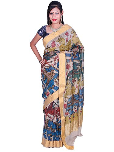 Uppada Kalamkari Cotton Saree (Multicolor)
