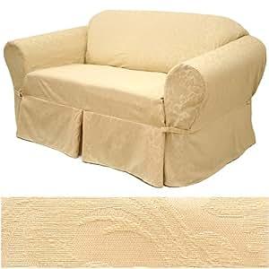Amazon Damask Beige Furniture Slipcover Sofa 582