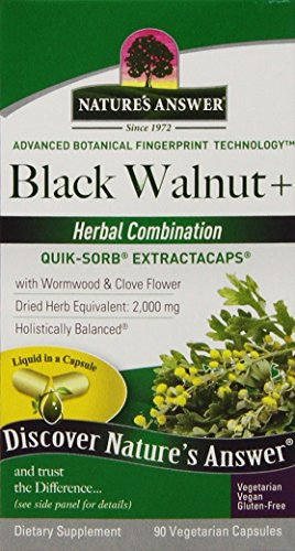 Nature's Answer Black Walnut and Wormwood Extract Capsules, 90 Count (Blackwalnut Extract compare prices)