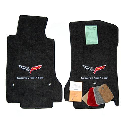 Corvette C6 Coupe Convertible Ebony Floor Mats 2007 1 2