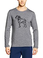 super natural Sudadera Graphic Relax (Gris)