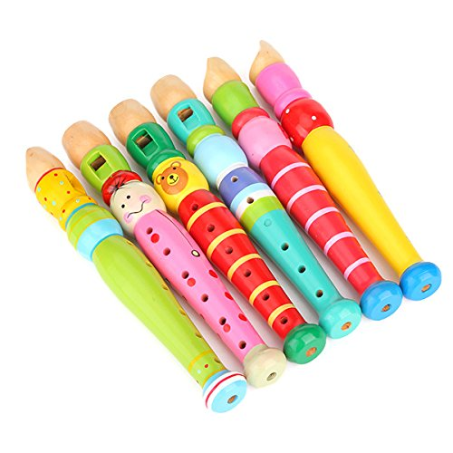 Generic Wooden Flute For Child Kids Music Educational Toy front-666983