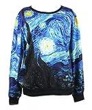 LoveLiness Womens Neon Digital Print Sweatshirt Sweaters Multicoloured