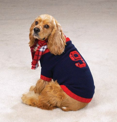 X-SMALL - English Knit Rugby Dog Sweater
