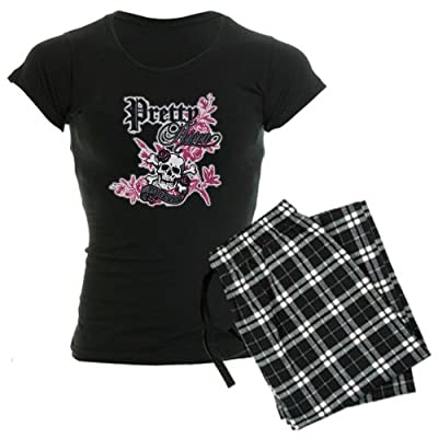 Artsmith, Inc. Women's Dark Pajamas Pretty Poison Forever Skull and Crossbones