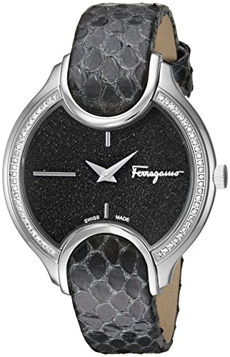 Salvatore-Ferragamo-Womens-Signature-Quartz-Stainless-Steel-and-Leather-Casual-Watch-ColorBlack-Model-FIZ070015