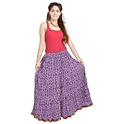 Kiran Udyog Ethnic Multi Floral Pure Cotton Skirt 563