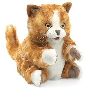 Folkmanis Tabby Kitten Hand Puppet, Orange