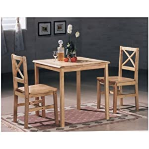 Aspen Square Dining Table With 2 Cross Back Chairs Beech Kit