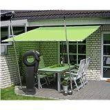 Leco Terrassenüberdachung Speer in grün 3 x 3m NEU