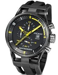 Locman Mens Monte Cristo Oversize Titanium Water Resistant Chrono Watch Black